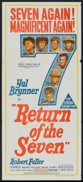 "Movie Posters:Western, Return of the Seven Lot (United Artists, 1966). Australian Daybills (2) (13"" X 30""). Western.. ... (Total: 2 Items)"