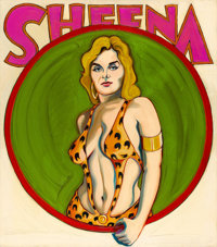 MEL RAMOS (American, b. 1935) Sheena, Queen of the Jungle, 1963 Oil on canvas 30 x 26 inches (76