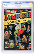 Golden Age (1938-1955):Funny Animal, Jamboree Comics #1 (Round, 1946) CGC FN/VF 7.0 Cream to off-whitepages....