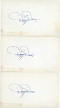 Autographs:Index Cards, Dizzy Dean Signed Index Cards Group Lot of 3. ... (Total: 3 items)