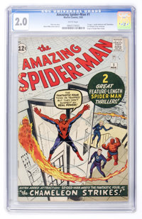 The Amazing Spider-Man #1 (Marvel, 1963) CGC GD 2.0 White pages