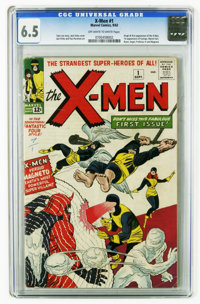 X-Men #1 (Marvel, 1963) CGC FN+ 6.5 Off-white to white pages. This is it! The origin and first appearance of the X-Men (...