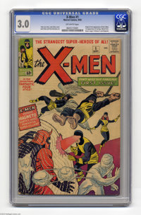 X-Men #1 (Marvel, 1963) CGC GD/VG 3.0 Off-white pages. This landmark issue has the origin and first appearance of the X-...
