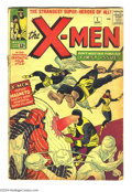 Silver Age (1956-1969):Superhero, X-Men #1 (Marvel, 1963). Condition: GD. First appearance of Marvel's mutants. Stan Lee story, Jack Kirby art. Solid cover co...