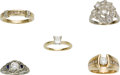 Estate Jewelry:Lots, Lot of Diamond, Gold Rings. ...