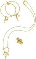 Estate Jewelry:Suites, Diamond, Gold Jewelry Suite, Judith Ripka. ... (Total: 4 Items)
