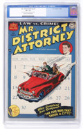 Golden Age (1938-1955):Crime, Mr. District Attorney #1 (DC, 1948) CGC VF- 7.5 Cream to off-white pages....