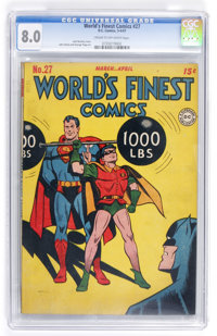 World's Finest Comics #27 (DC, 1947) CGC VF 8.0 Cream to off-white pages