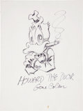 Original Comic Art:Sketches, Gene Colan Howard the Duck Sketch Original Art (undated)....