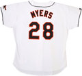 Baseball Collectibles:Uniforms, 1996 Randy Myers Signed Baltimore Orioles Game Used Jersey, A10. ...