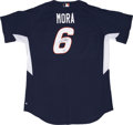 Baseball Collectibles:Uniforms, 2005 Melvin Mora Signed All-Star Practice Jersey. ...
