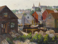 Fine Art - Painting, American:Modern  (1900 1949)  , HENRY F. BULTITUDE (20th Century). Harbor View. Oil oncanvas laid on board. 17-3/4 x 23-3/4 inches (45.1 x 60.3 cm).Si...