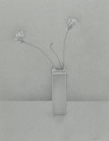 Fine Art - Work on Paper:Drawing, JOSEPH NICOLETTI (American, b. 1948). Flowers in a Vase,1988. Graphite and gouache on paper. 25-1/2 x 19-1/2 inches (64...
