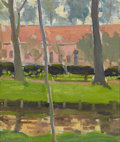 Fine Art - Painting, American:Modern  (1900 1949)  , MARGARET JORDAN PATTERSON (American, 1867-1950). BelgianHamlet. Oil on canvas. 11 x 9 inches (27.9 x 22.9 cm). ...