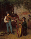 American:Portrait & Genre, The Hon. Paul H. Buchanan, Jr. Collection . EASTMAN JOHNSON(American, 1824-1906). The Young Musicians, 1862. Oil onc...