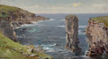 Fine Art - Painting, American:Antique  (Pre 1900), THE HON. PAUL H. BUCHANAN, JR. COLLECTION. WILLIAM TROST RICHARDS(American, 1833-1905). British Coastal View (Coast...