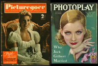 """Greta Garbo Lot (Various).Still (8"""" X 10""""), Magazines (2) (8.5"""" X 11.5"""" and 9"""" X 12""""), and..."""