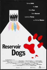 "Reservoir Dogs (Miramax, 1992). Cannes Festival Poster (26.75"" X 39.5""). Crime"
