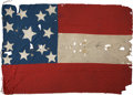 Military & Patriotic:Civil War, Rare Form, Visually Striking, Very Early Confederate 1st National Flag Accompanied by Complete Authentication and Analysis Doc...