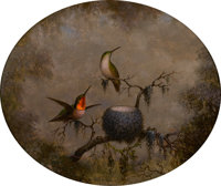The Hon. Paul H. Buchanan, Jr. Collection  MARTIN JOHNSON HEADE (American, 1819-1904) Hummingbirds and Th