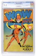 Golden Age (1938-1955):Superhero, Wow Comics #4 Crowley Copy/File Copy pedigree (Fawcett, 1942) CGC VF/NM 9.0 Cream to off-white pages....