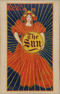 "Advertising:Signs, Louis J. Rhead: His Classic Art Nouveau ""Read The Sun"" AdvertisingPoster...."