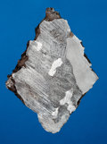 Meteorites:Irons, SIKHOTE-ALIN METEORITE - DIAMOND-SHAPED END PIECE REVEALS THE INTERNAL AND EXTERNAL FEATURES OF HISTORIC IRON METEORITE. ...