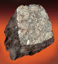 """NEW TEXAS METEORITE - SMALL END PIECE OF """"WEST, TEXAS"""" METEORITE SHOWER - INTERNAL STRUCTURE REVEALED"""