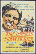 "Movie Posters:Western, The Indian Fighter (United Artists, 1955). One Sheet (27"" X 41"").Western.. ..."