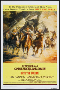 """Bite the Bullet Lot (Columbia, 1975). One Sheet (27"""" X 41"""") and Lobby Cards (2) (11"""" X 14""""). Western..."""