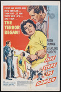 """Movie Posters:Adventure, Five Steps to Danger (United Artists, 1957). One Sheet (27"""" X 41"""").Adventure.. ..."""