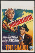 "Movie Posters:Drama, East of the River (Warner Brothers, 1940). Belgian (14"" X 21.5""). Drama.. ..."