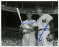 Autographs:Photos, Joe DiMaggio And Mickey Mantle Dual Signed Photograph....