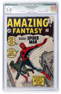 Silver Age (1956-1969):Superhero, Amazing Fantasy #15 (Marvel, 1962) CGC Qualified GD/VG 3.0 Off-white to white pages....