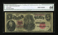 Large Size:Legal Tender Notes, Fr. 88 $5 1907 Legal Tender CGA Very Good 08....