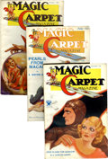 Pulps:Adventure, Magic Carpet Group (Popular, 1933-34) Condition: Average VG.... (Total: 5 Items)