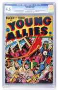 Golden Age (1938-1955):Superhero, Young Allies Comics #10 (Timely, 1943) CGC VG+ 4.5 Cream to off-white pages....