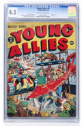 Golden Age (1938-1955):Superhero, Young Allies Comics #8 (Timely, 1943) CGC VG+ 4.5 Off-white to white pages....