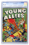 Golden Age (1938-1955):Superhero, Young Allies Comics #6 (Timely, 1943) CGC VG+ 4.5 Cream to off-white pages....