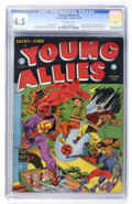 Golden Age (1938-1955):Superhero, Young Allies Comics #4 (Timely, 1942) CGC VG+ 4.5 Off-white pages....