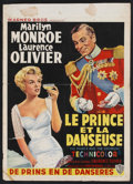 "Movie Posters:Romance, The Prince and the Showgirl (Warner Brothers, 1957). Belgian (14.5"" X 20.25""). Romance.. ..."