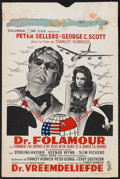 """Movie Posters:Comedy, Dr. Strangelove or: How I Learned to Stop Worrying and Love theBomb. (Columbia, 1964). Belgian (14.5"""" X 21.75""""). Comedy.. ..."""