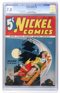 Golden Age (1938-1955):Superhero, Nickel Comics #5 (Fawcett, 1940) CGC FN/VF 7.0 Off-white to white pages....