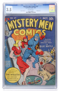 Mystery Men Comics #27 (Fox, 1941) CGC VG- 3.5 Off-white pages