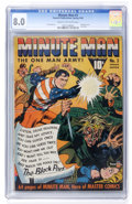 Golden Age (1938-1955):Superhero, Minute Man #3 (Fawcett, 1942) CGC VF 8.0 Cream to off-white pages....