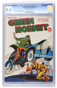 Green Hornet Comics #10 (Harvey, 1942) CGC VF+ 8.5 Off-white to white pages