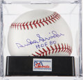 Autographs:Baseballs, Duke Snider Single Signed Baseball PSA Gem Mint 10. ...