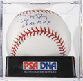 Autographs:Baseballs, Denny McLain Single Signed Baseball PSA Mint+ 9.5. ...