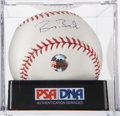 Autographs:Baseballs, Barry Bonds Single Signed Baseball PSA NM-MT+ 8.5. ...