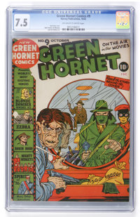 Green Hornet Comics #9 (Harvey, 1942) CGC VF- 7.5 Off-white to white pages